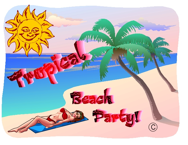 tropical beach party on the mark productions